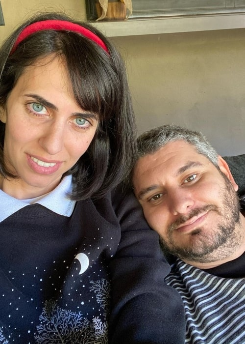 Hila Klein as seen in a selfie with her spouse Ethan Klein in September 2020