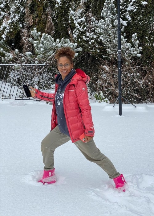 Holly Robinson Peete as seen in a picture that was taken in North Vancouver, British Columbia in February 2021