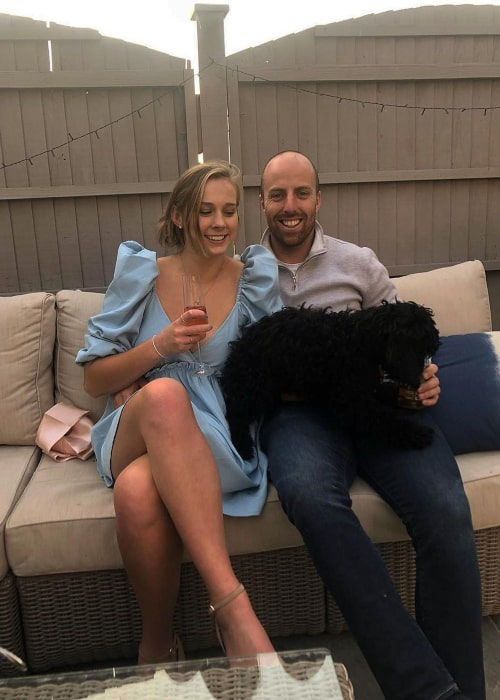 Jack Leach and Lucy Hawkins, as seen in September 2020