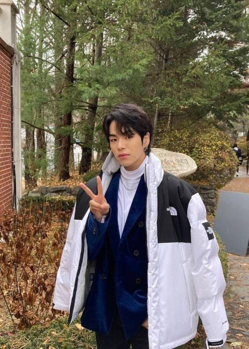 Jaehyuk as seen in a picture that was taken in February 2021