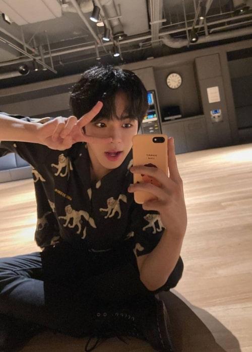 Jaehyuk as seen in a selfie that was taken in January 2021
