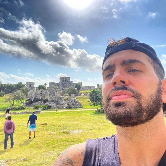 Jake Kodish as seen in a selfie that was taken in February 2021