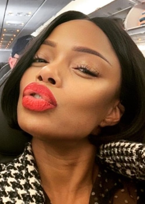 Jill Marie Jones in January 2021 on a plane traveling to San Francisco and actually goofing around