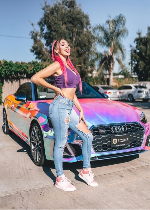 Kendra Sunderland in a picture that was taken in December 2020