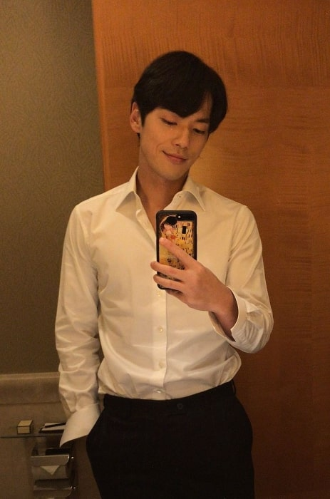 Kim Jung-hyun as seen while taking a mirror selfie in September 2019