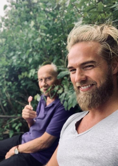 Lasse Lokken Matberg as seen in a selfie with his grandfather in August 2020, in Verdalsøra, Norway