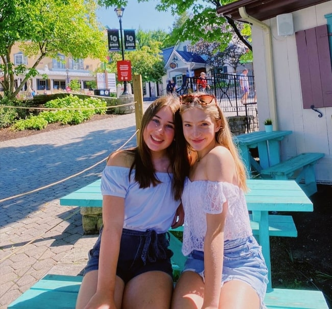 Lilly Bartlam (Right) and Alyssa Hess in Mont-Tremblant, Quebec in August 2020