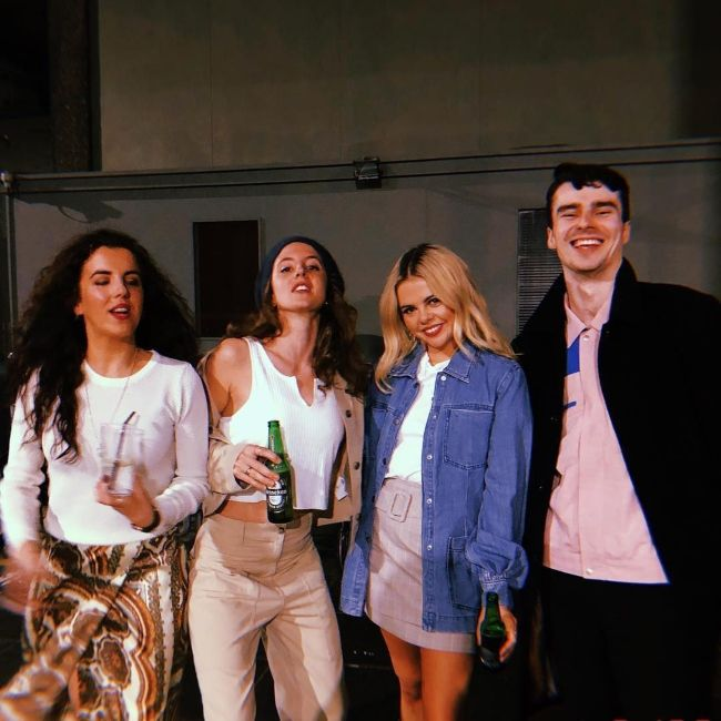 Louisa Harland (second from left) as seen enjoying with her friends in March 2019