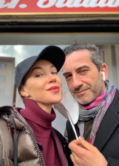 Ludmilla Radchenko and Matteo Viviani, as seen in February 2021