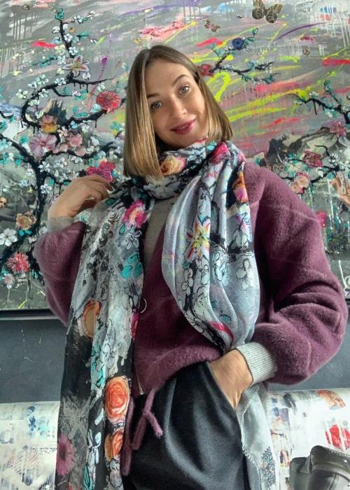 Ludmilla Radchenko as seen in an Instagram Post in January 2021