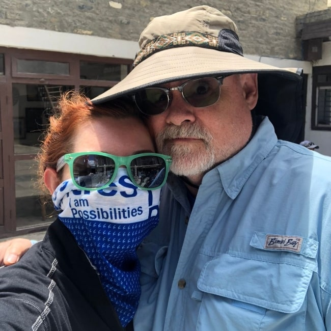 Mandy Harvey as seen while taking a selfie with her father in Tampa, Florida in January 2020