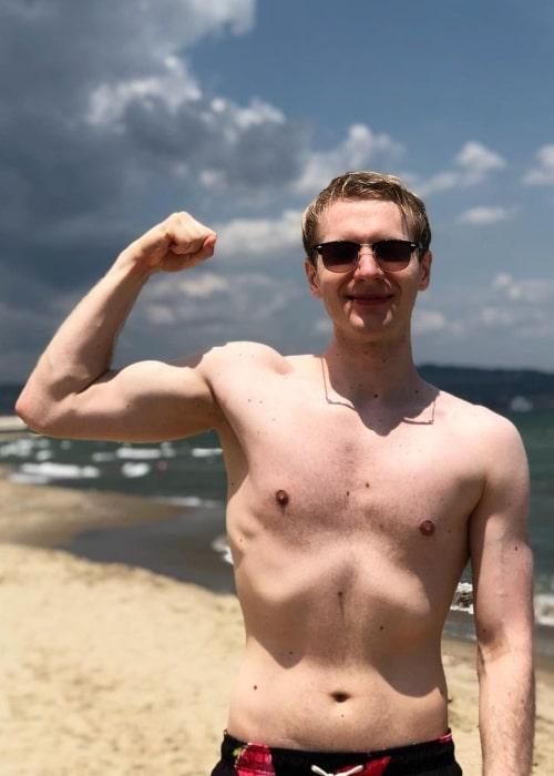 Marcin Jankowski as seen in a shirtless picture that was taken in July 2020