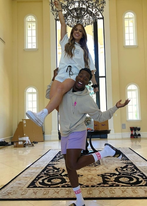 Markell Washington and gymnast and dancer Kelianne Stankus as seen in a picture that was taken in Calabasas, California in October 2020