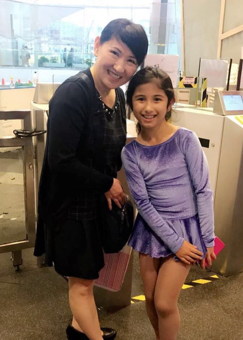 Midori Ito, with a young fan, as seen in June 2017