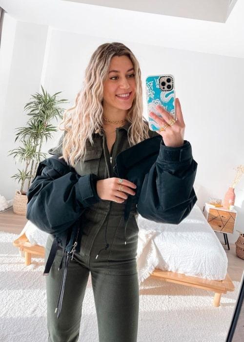 Natacha Oceane as seen in a selfie that was taken in London, United Kingdom in January 2021