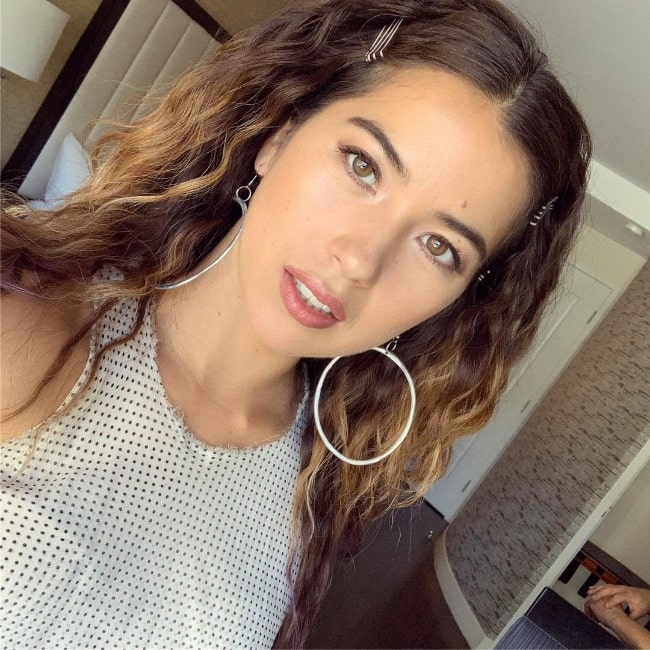 Nichole Sakura as seen while clicking a selfie in July 2019
