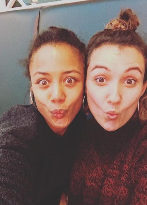 Nina Toussaint-White (Left) as seen while pouting for a selfie alongside Laura Heffernan