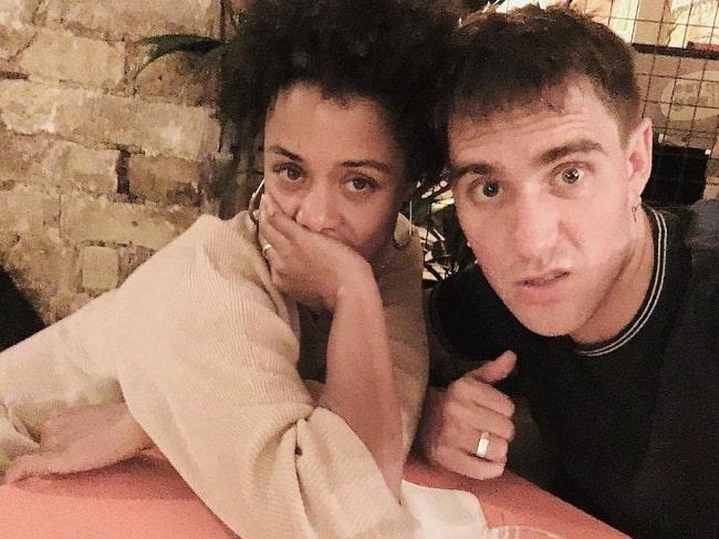 Nina Toussaint-White in a selfie with Joey Ellis in an Instagram post in December 2018