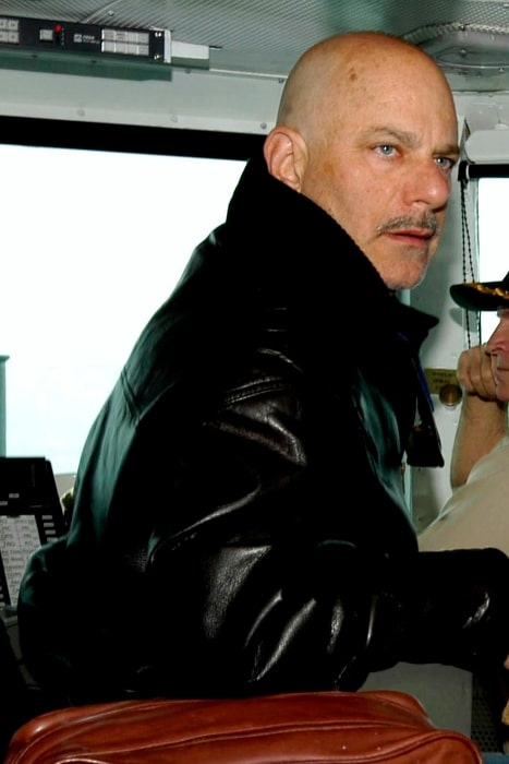 Rob Cohen pictured on the bridge of the USS Abraham Lincoln (CVN-72) in June 2004