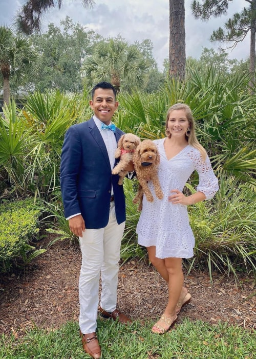 Roberto Aguayo and Courtney Byrd, as seen in April 2020