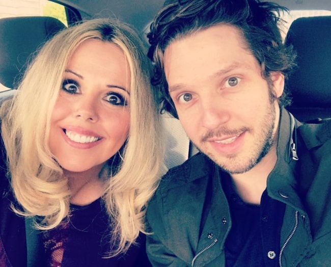 Roisin Conaty in a selfie with her GameFace co-star Damien Molony in April 2019