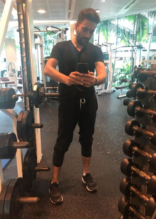 Shekhar as seen in a workout selfie in 2019