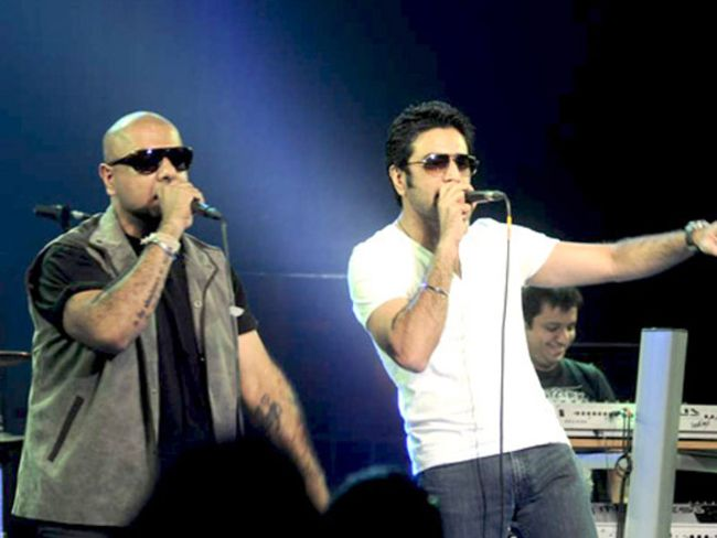 Shekhar (right) and Vishal seen performing in 2012