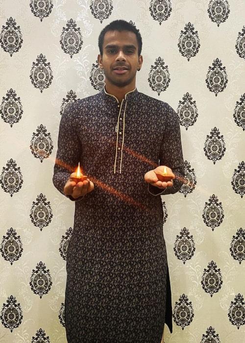 Sumit Nagal as seen in an Instagram Post in November 2020