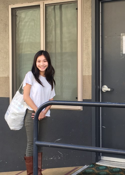Telci Huynh as seen in a picture that was taken at the Universal Studios Lot in December 2017