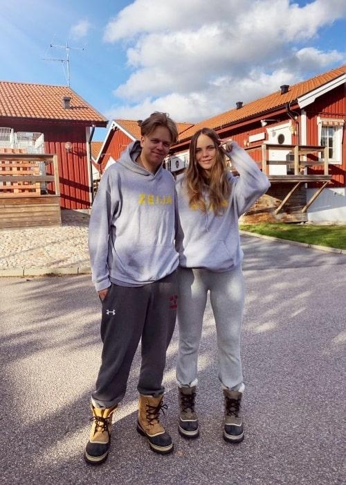 Valter Skarsgård and Eija Skarsgård in October 2020