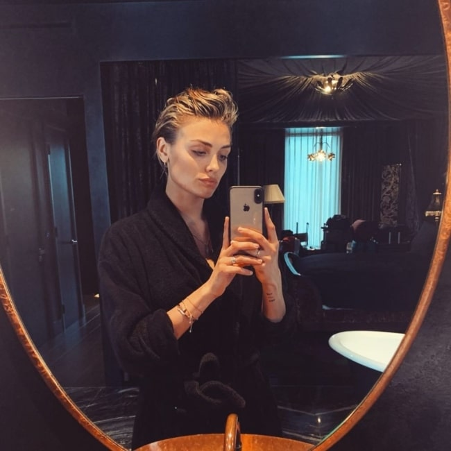 Wallis Day as seen while taking a mirror selfie in July 2020