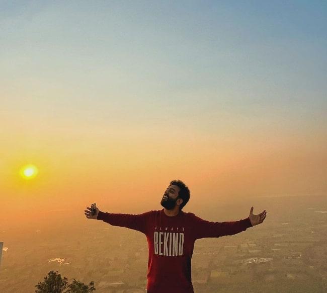 Yashraj Mukhate as seen while posing in an Instagram post in December 2020