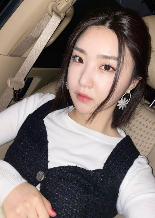 Yuna as seen while taking a selfie in March 2021