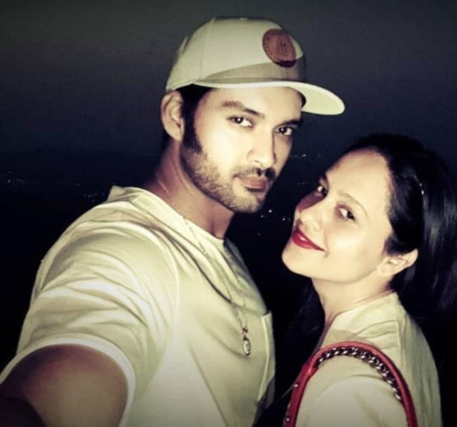 Aditya Redij as seen while taking a selfie with his wife Natasha Sharma
