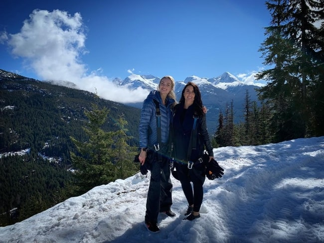 Allegra Edwards (Left) and Margaret Mentaberry in Whistler, Canada in April 2019