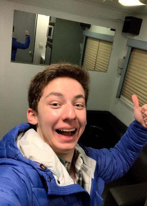 Andrew Barth Feldman in an Instagram selfie from March 2021