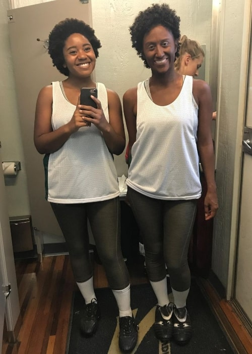Anjelika Washington sharing a flashback to 2017 when she had a stunt double for the first time who had been painted black