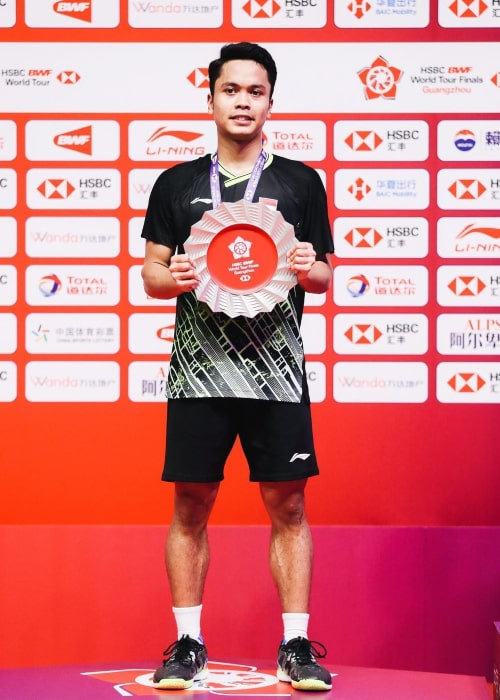 Anthony Sinisuka Ginting as seen in an Instagram Post in December 2019