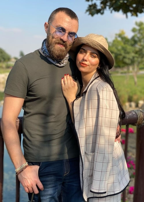 Azza Zarour as seen in a picture that was taken with her beau, actor Nour Yasin in January 2021