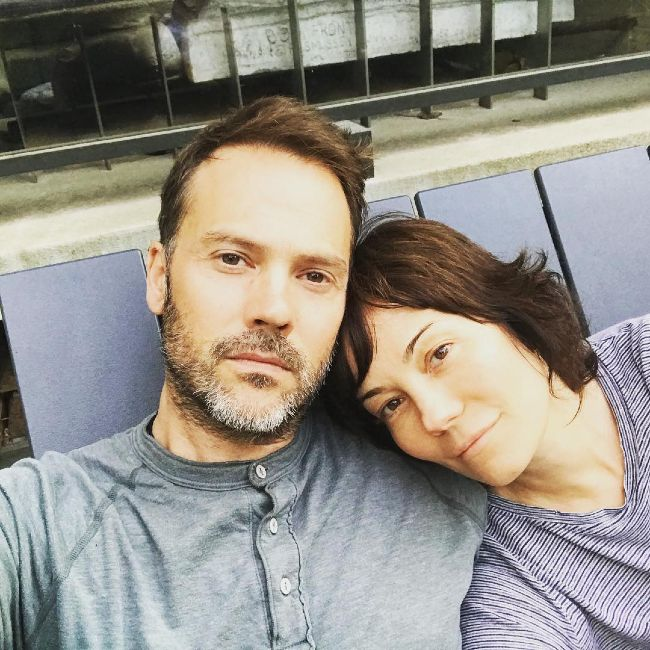 Barry Watson and his wife Natasha as seen in 2018