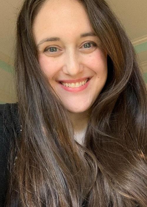Becky Albertalli as seen in a selfie that was taken in October 2020
