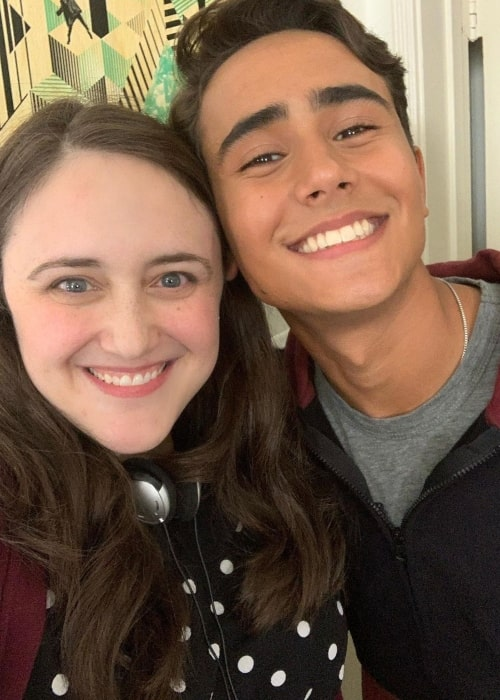 Becky Albertalli as seen in a selfie with actor and singer Michael Cimino in April 2020