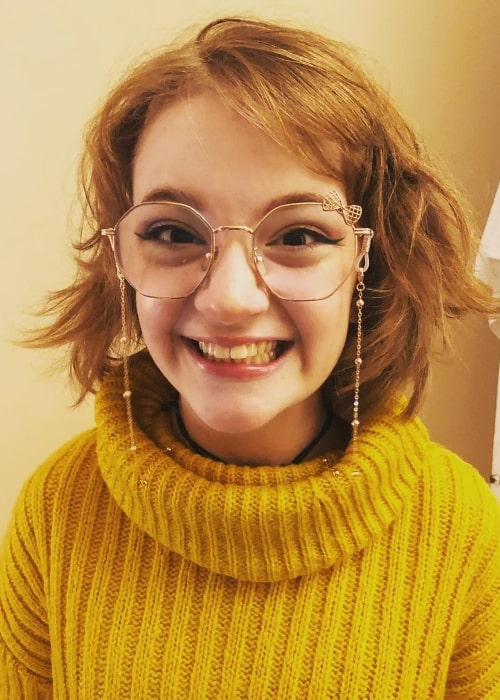 Bella Higginbotham as seen while smiling for a picture in September 2020