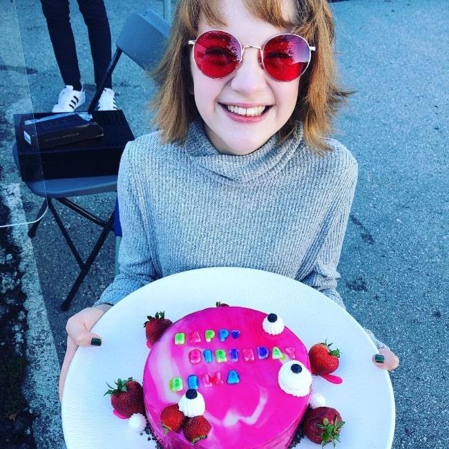 Bella Higginbotham pictured while celebrating her birthday in September 2020