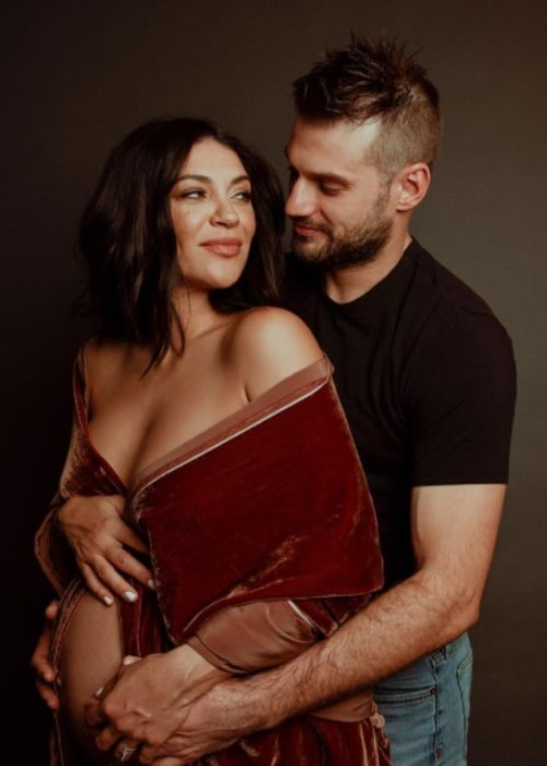 Brad Richardson and Jessica Szohr, as seen in January 2021