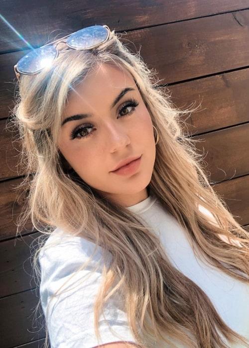 BrookeAB as seen in a selfie that was taken in May 2020