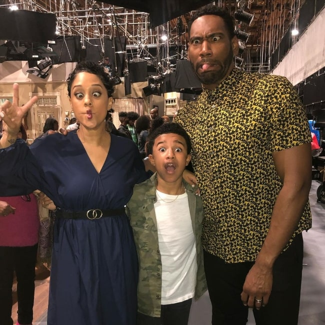 Cameron J. Wright (Center) with Tia Mowry and Anthony Alabi in an Instagram post in January 2021