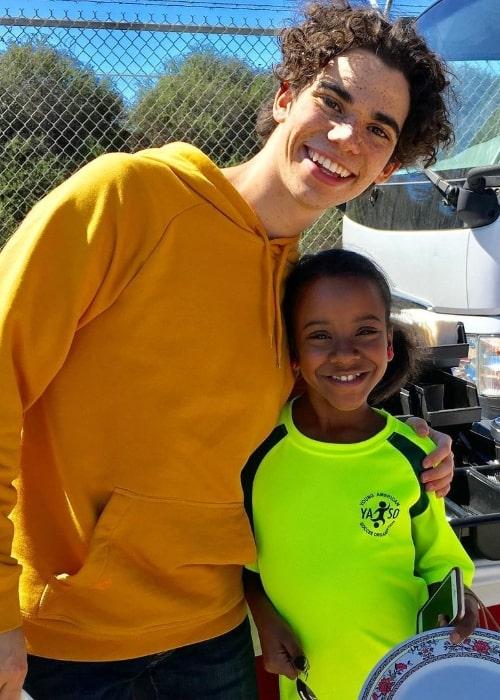 Camryn Jones smiling in a picture alongside Cameron Boyce