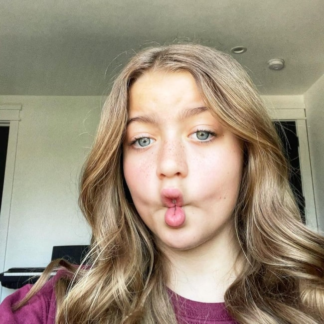 Claire Rock Smith as seen in a selfie that was taken in Hollywood, California in April 2021