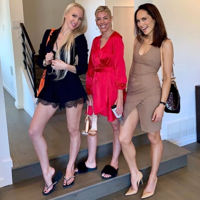 Davina Potratz and her friends actress Christine Quinn and Heather Rae Young in Los Feliz in May 2020